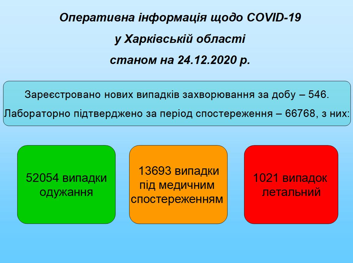 Станом на 24.12.2020